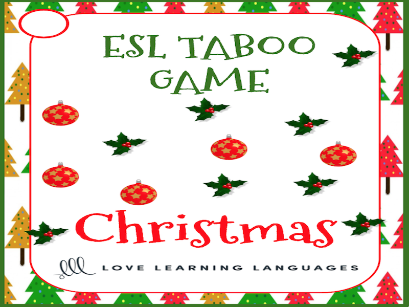 Christmas - ESL - ELL Taboo Speaking Game - American English