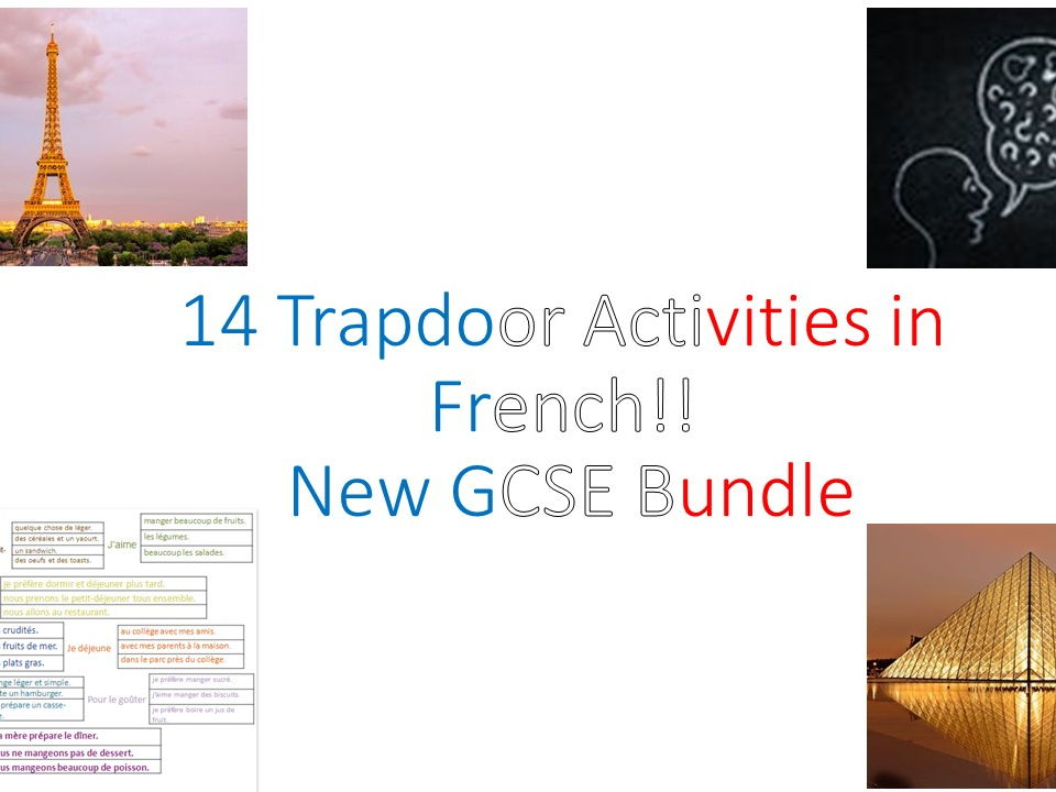 14 Trapdoor activities - New French GCSE