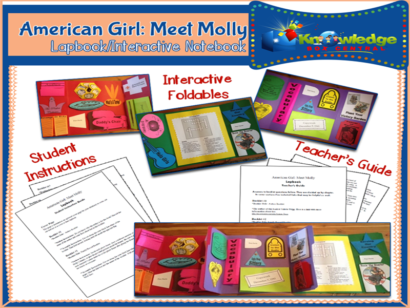 American Girl: Meet Molly Lapbook