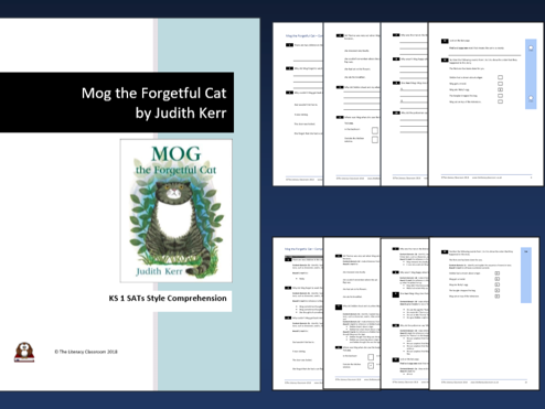 Mog the Forgetful Cat KS 1 SATs style comprehension