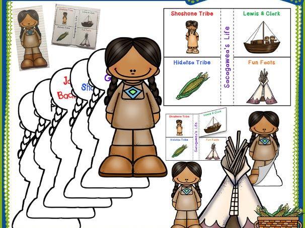 Sacagawea Interactive Foldable Booklets