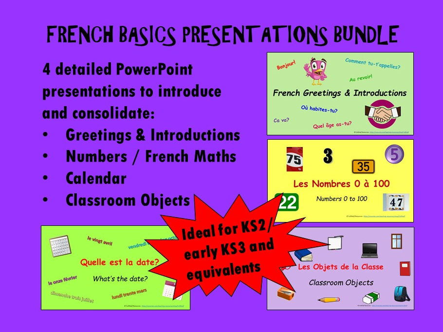 French Basics Presentations BUNDLE
