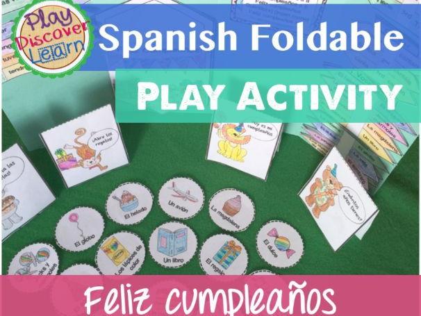 Spanish Foldable Play Activity Feliz Cumpleaños