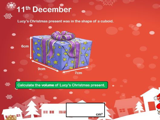 Y6 SATS Christmas Revision Question Advent Calendar