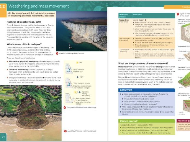 L2: Weathering and Mass Movement, Coasts GCSE Geography