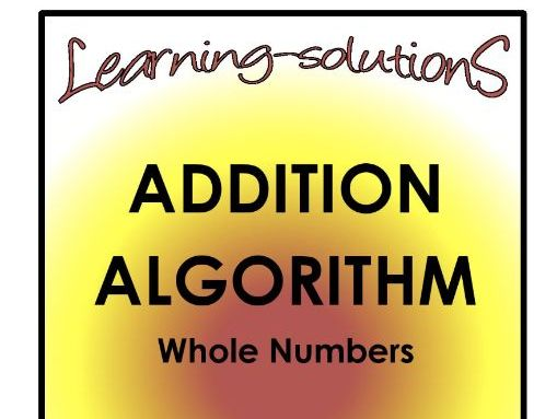 ADDITION ALGORITHM - Whole Class - Screener for differentiation+Consolidation+Task Cards (242p)