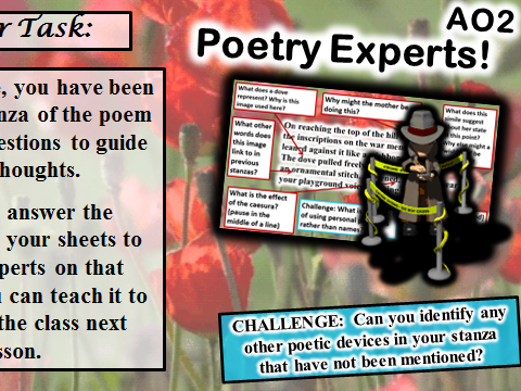 AQA Poetry Power and Conflict Scheme