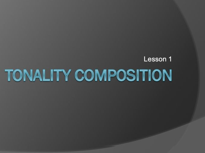 Tonality Composition