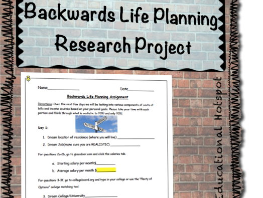 Backwards Life Planning Research Project