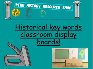 Historical key words display