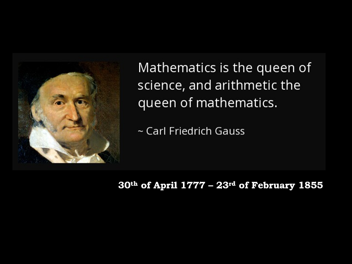 Carl Gauss Birthday Challenge