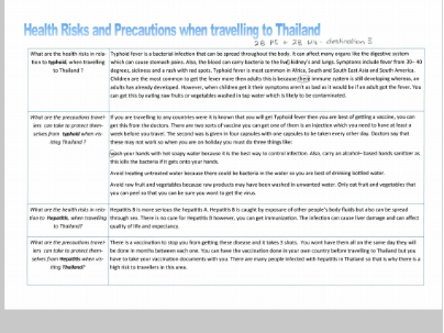 Unit 5 Travel and Tourism - MERIT assessed work student example