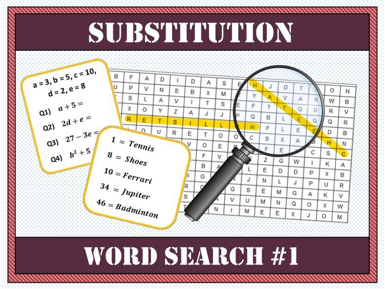 🔠 Substitution Word Search #1 🔎
