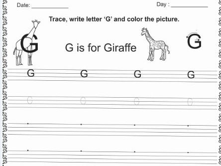 G to O learn with tracing,matching and circle