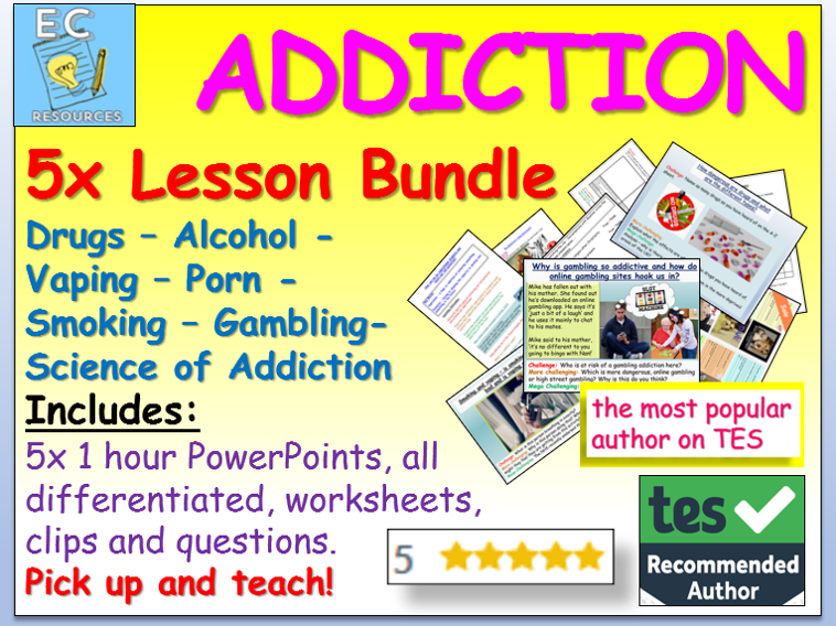 Addiction: Drugs + more!