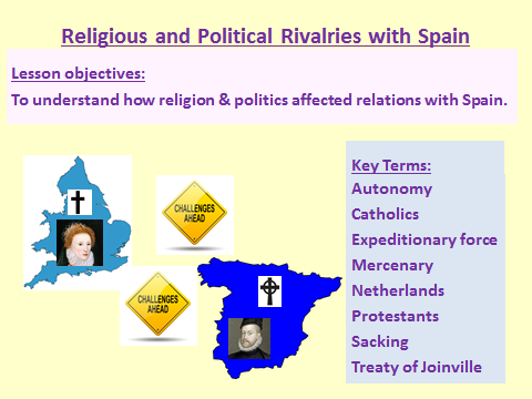 Elizabeth: Religious and Political Rivalries with Spain