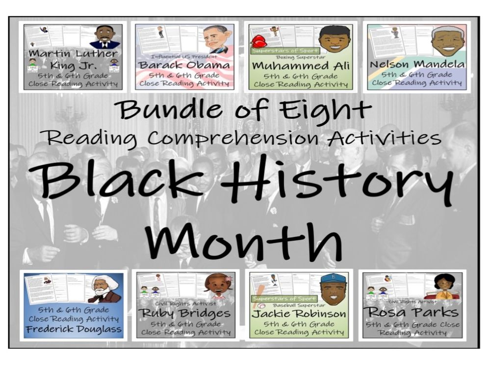UKS2 History - Black History Month Reading Comprehension Activity Bundle