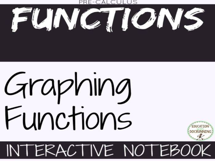 Graphs of Functions for Precalculus Interactive Notebook Graphic Organizers