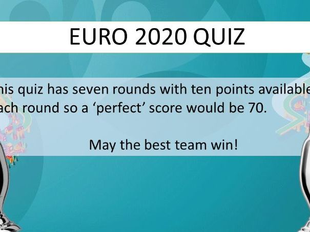 Euro 2020 (2021) Quiz - any subject or during form time