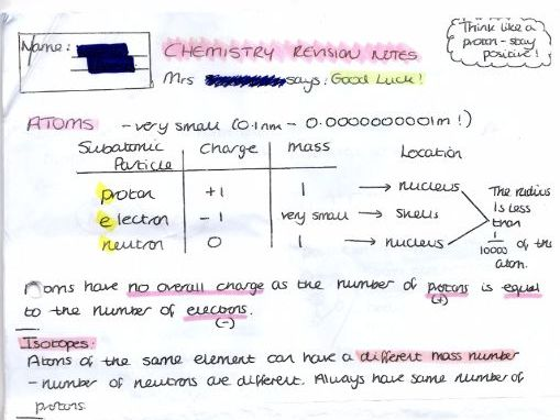 GCSE CHEMISTRY REVISION NOTES