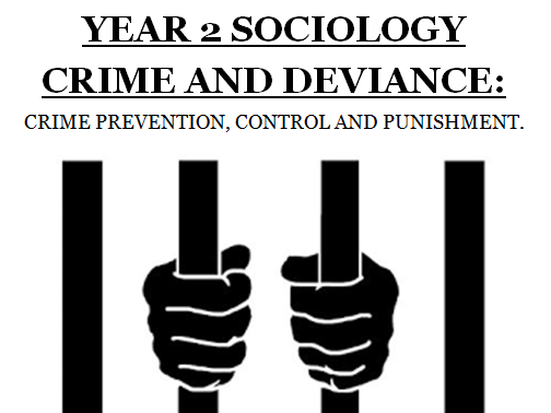 AQA SOCIOLOGY CRIME AND DEVIANCE: CRIME CONTROL, PREVENTION & PUNISHMENT [7 LESSONS]