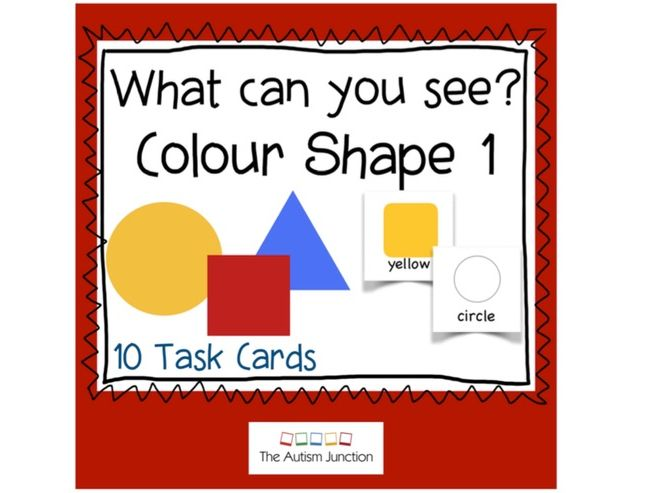 What can you see? Colour Shape 1 UK version