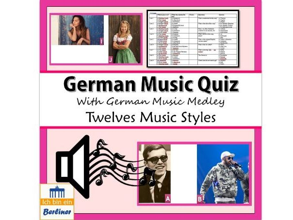 German Music Quiz with Medley of German songs