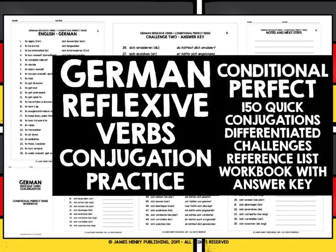 GERMAN REFLEXIVE VERBS CONJUGATION 8