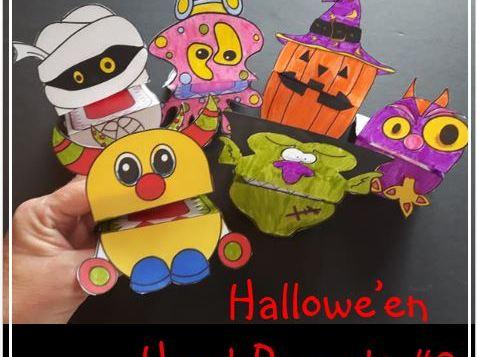Hallowe'en Crafts - Hand Puppets #2