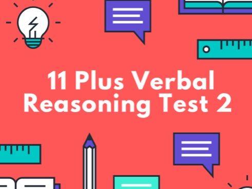 11 Plus Verbal Reasoning Test 2