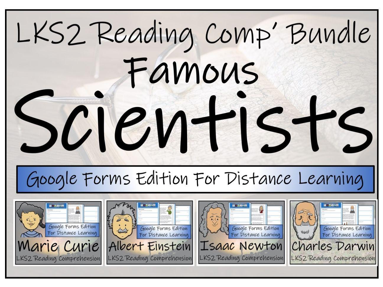 LKS2 Famous Scientists Reading Comprehension & Distance Learning Bundle