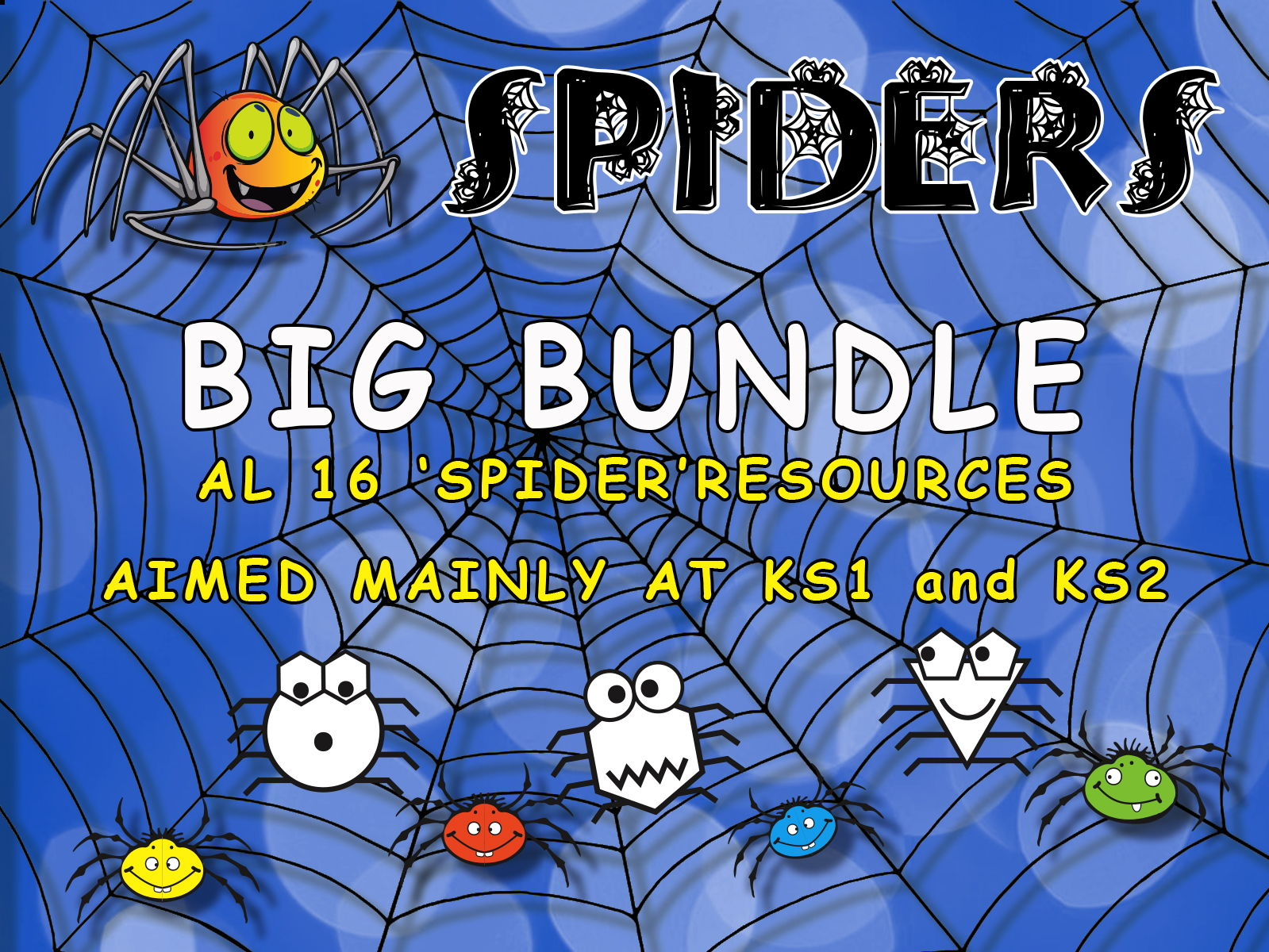 SPIDERS - MATHS ACTIVITIES MEGA BUNDLE FOR KS1 and KS2