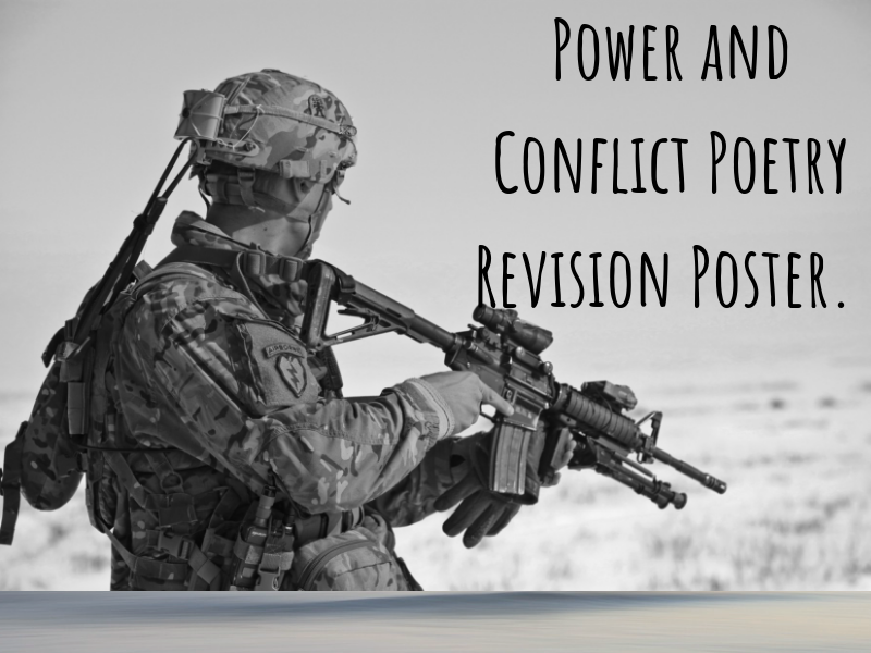 AQA Power and Conflict Poetry Revision Poster