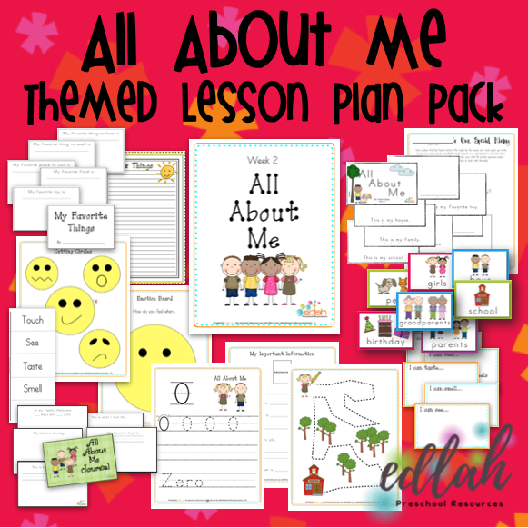 All About Me Themed Unit Preschool Lesson Plans And Activities One