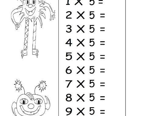 5 times tables ks1