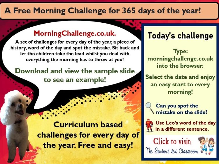 Morning Challenges for 365 days of the year - FREE!