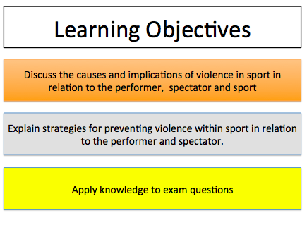 Violence in Sport - Sport and Society - A Level PE (AQA) - New 2016 Specification #7582