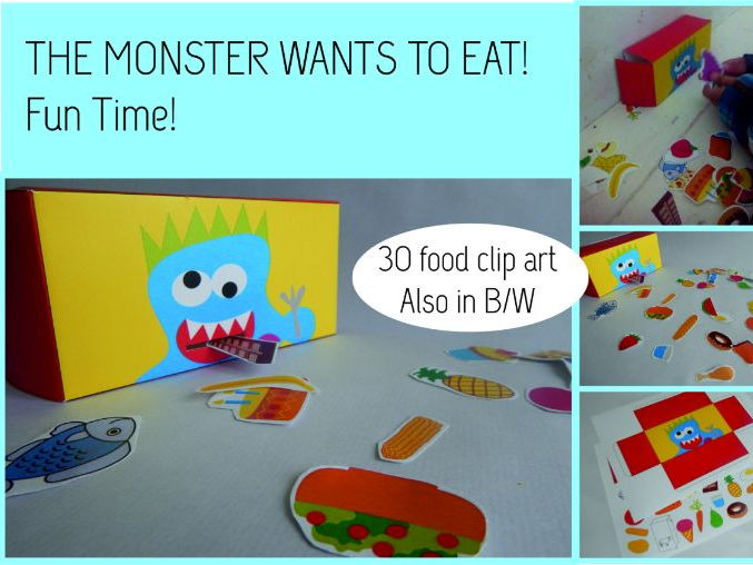 "Game ""The monster wants to eat"""