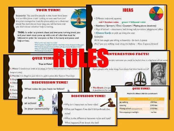 PSHE Citizenship: RULES