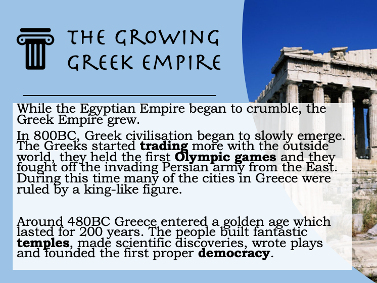 Decline of the Egyptian Empire / Rise of the Greek Empire Lesson