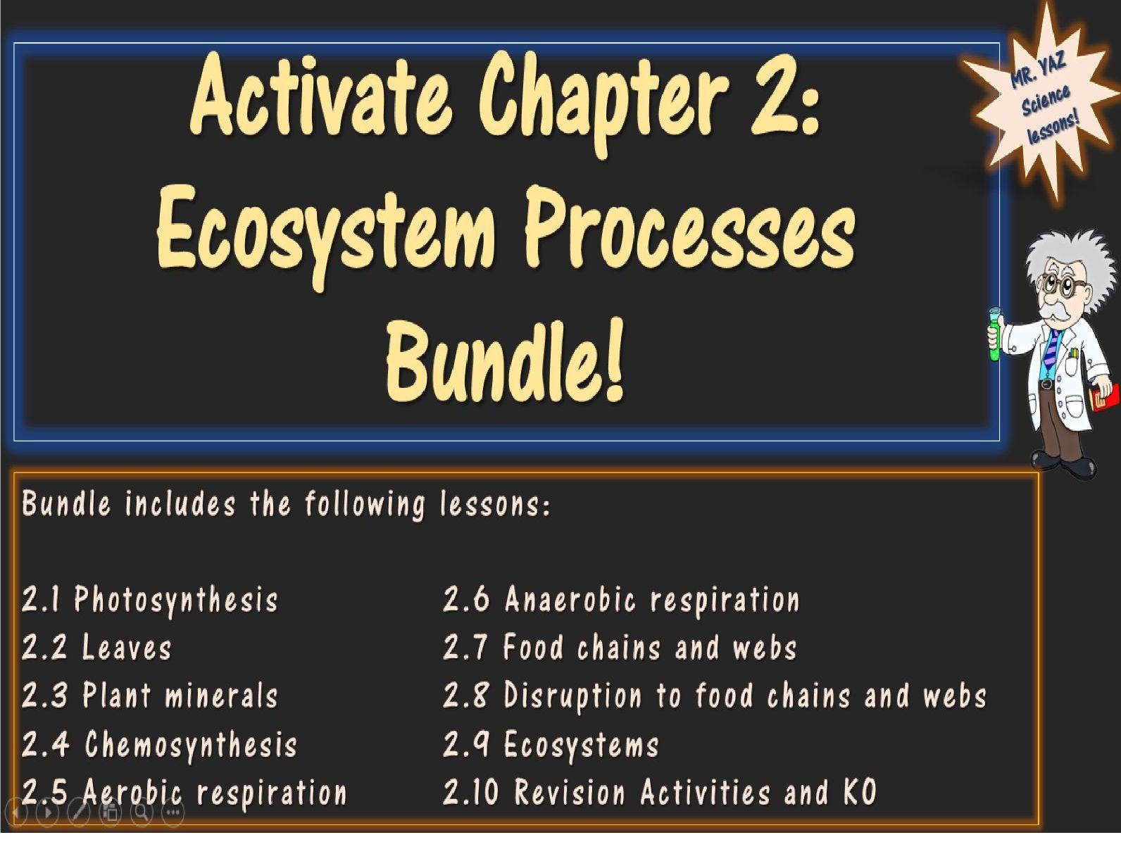 Ecosystem Processes Activate 2 KS3 Science Bundle