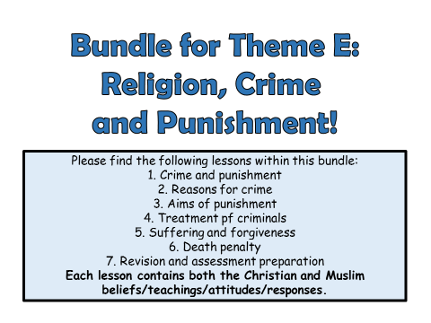AQA A GCSE Religious Studies Theme E Full Unit!