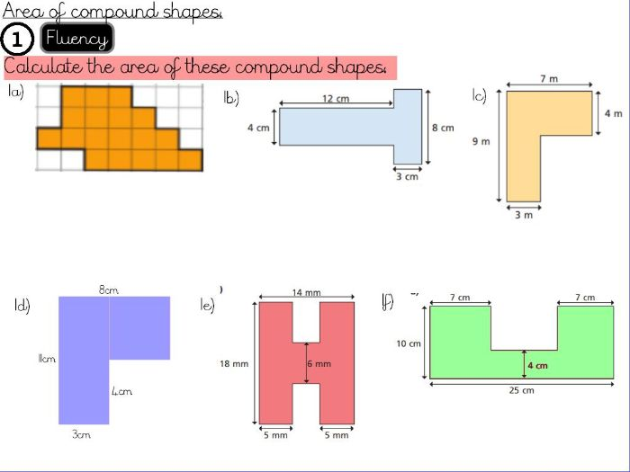Area and Perimeter- Area of compound shapes- Year 5