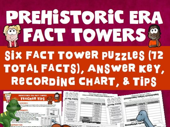 Prehistoric Era Fact Tower Activity
