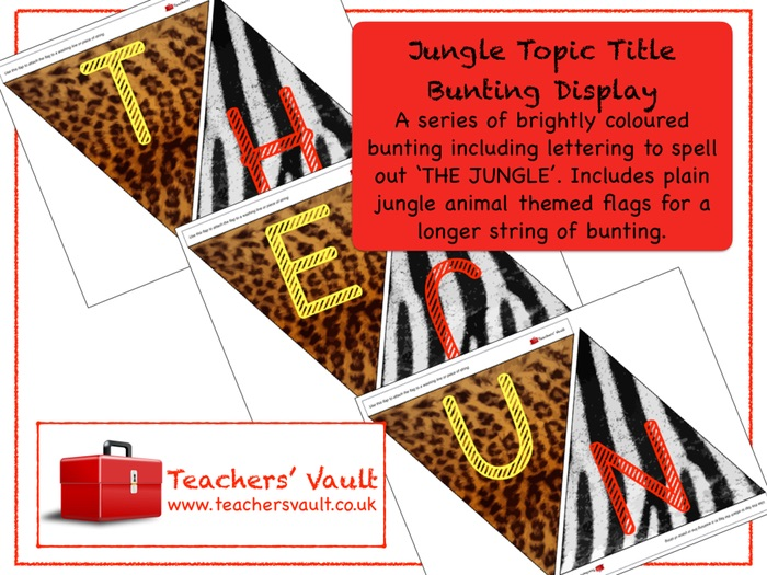 Jungle Topic Title Bunting Display