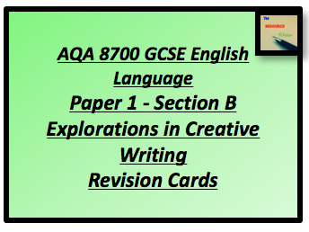 AQA 8700 GCSE English Paper 1 Section B Revision Cards