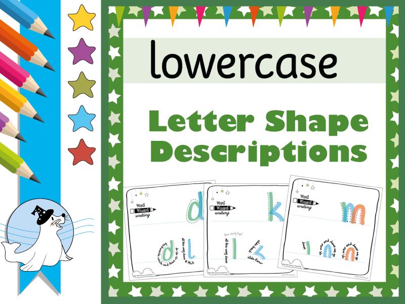 Lowercase Letter Descriptions