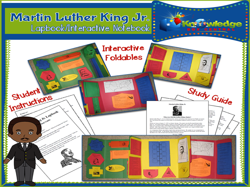 Martin Luther King Jr Lapbook
