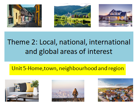 GCSE Spanish -Home, town, neighbourhood and region