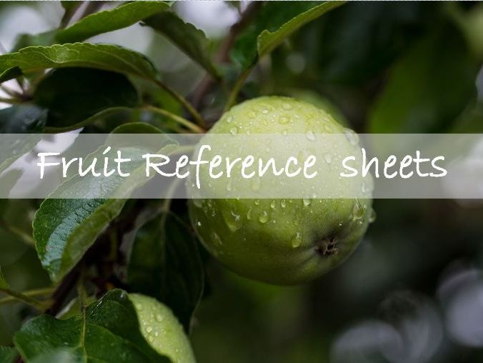 Fruit reference sheets